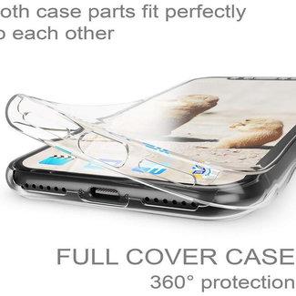 MSS Apple iPhone X / XS Transparent TPU 360 ° degree TPU silicone 2 in 1 case