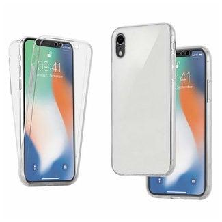 MSS Apple iPhone XR Transparent TPU 360 ° degree TPU silicone 2 in 1 case