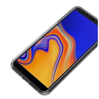 MSS Samsung Galaxy J4 Plus (J410) Transparent TPU 360 ° degree TPU silicone 2 in 1 case