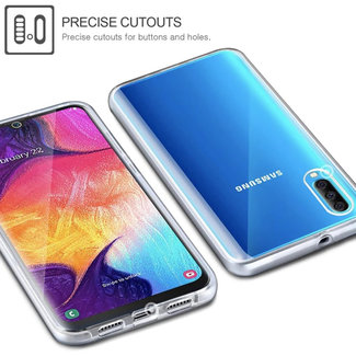 MSS Samsung Galaxy Samsung A50 Transparent TPU 360 ° degree TPU silicone 2 in 1 case