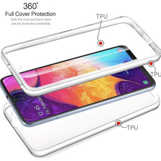 MSS Samsung Galaxy Samsung A10 / M10 Transparent TPU 360 ° degree TPU silicone 2 in 1 case
