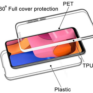 MSS Samsung Galaxy Samsung A20s Transparent TPU 360 ° degree TPU silicone 2 in 1 case