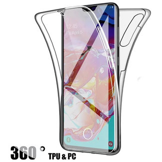 MSS Samsung Galaxy Samsung A70 Transparant TPU 360° graden TPU siliconen 2 in 1 hoesje