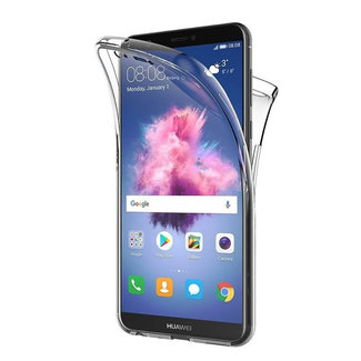 MSS Huawei Huawei P Smart Transparent TPU 360 ° degree TPU silicone 2 in 1 case