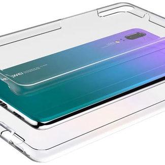MSS Huawei Huawei P20 Transparant TPU 360° graden TPU siliconen 2 in 1 hoesje