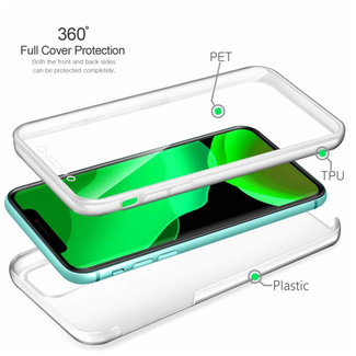 MSS Apple iPhone 11 Transparant TPU 360° graden TPU siliconen 2 in 1 hoesje