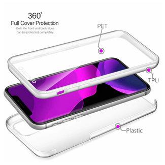 MSS Apple iPhone 11 Pro Transparent TPU 360 ° degree TPU silicone 2 in 1 case