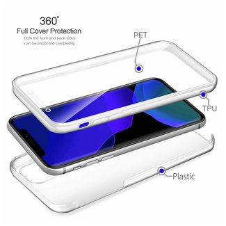 MSS Apple iPhone 11 Pro Max Transparant TPU 360° graden TPU siliconen 2 in 1 hoesje
