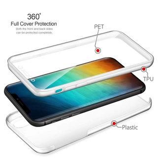 MSS Apple iPhone XS Max Transparent TPU 360 ° degree TPU silicone 2 in 1 case