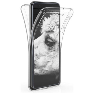 MSS Samsung Galaxy A8 2018 (A530) Transparant TPU 360° graden TPU siliconen 2 in 1 hoesje