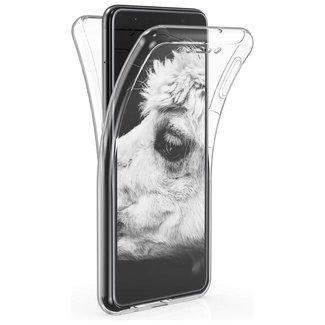 MSS Samsung Galaxy A8 2018 (A530) Transparentes TPU 360 ° TPU Silikon 2 in 1 Hülle