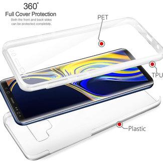 MSS Samsung Galaxy A9 (2018) Transparent TPU 360 ° degree TPU silicone 2 in 1 case