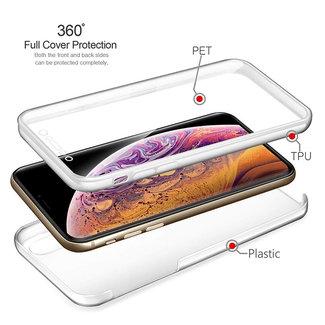 MSS Samsung Galaxy J4 Transparant TPU 360° graden TPU siliconen 2 in 1 hoesje
