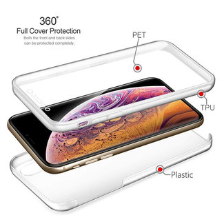 MSS Samsung Galaxy J4 Transparent TPU 360 ° degree TPU silicone 2 in 1 case