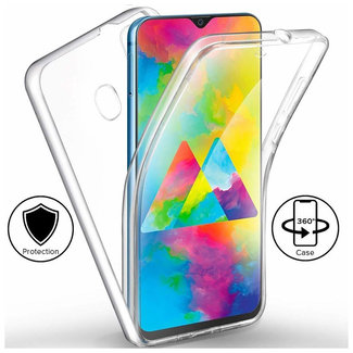 MSS Samsung Galaxy M30 Transparent TPU 360 ° TPU Silikon 2 in 1 Hülle