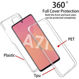 MSS Samsung Galaxy A71 5G Transparent TPU 360 degree cover