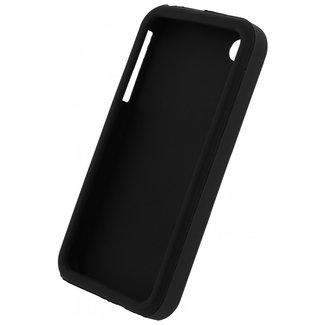 MSS Apple iPhone 4 / 4s Schwarz TPU Rückseite