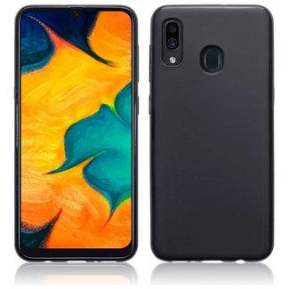 MSS Samsung Galaxy A20/A30 Zwart TPU Back cover