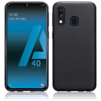 MSS Samsung Galaxy A40 Black TPU Back cover