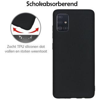 MSS Samsung Galaxy A51 Schwarz TPU Rückseite