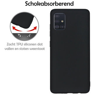 MSS Samsung Galaxy A51 Zwart TPU Back cover