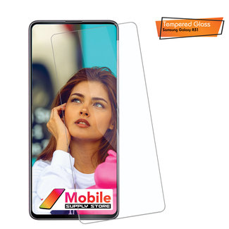 MSS Samsung Galaxy A31 Transparent 9H 0,3 mm 2,5 D gehärtetes Glas