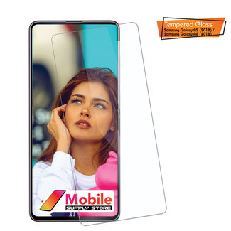 MSS Samsung Galaxy A5 (2018) / A8 (2018) Transparant 9H 0.3mm 2.5D Tempered Glass