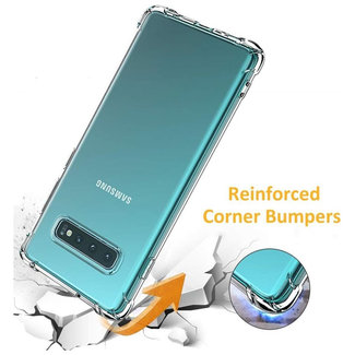MSS Samsung Galaxy S10 Transparant TPU Anti shock back cover hoesje