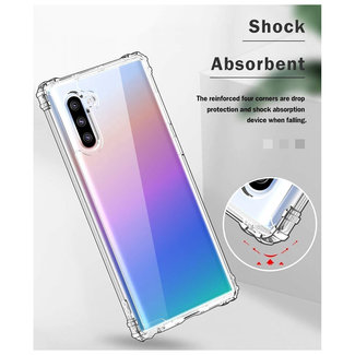 MSS Samsung Galaxy Note 10 Pro Transparant TPU Anti shock back cover hoesje