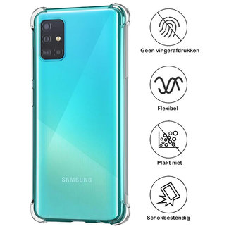 MSS Samsung Galaxy A51 Transparant TPU Anti shock back cover hoesje