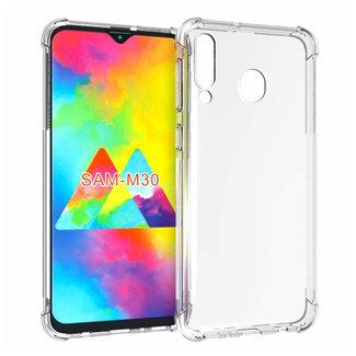 MSS Samsung Galaxy M30 Transparent TPU Anti shock back cover case