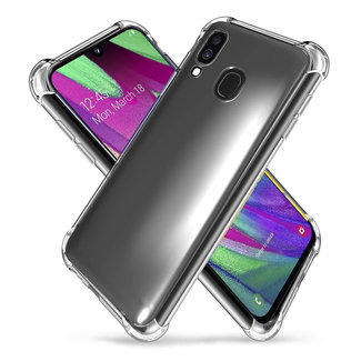 MSS Samsung Galaxy A40 Transparant TPU Anti shock back cover hoesje