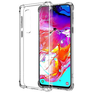 MSS Samsung Galaxy A70 Transparent TPU Anti shock back cover case