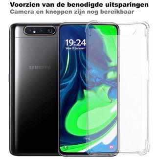 MSS Samsung Galaxy A80/A90 Transparant TPU Anti shock back cover hoesje
