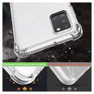 MSS Samsung Galaxy A31 Transparant TPU Anti shock back cover hoesje