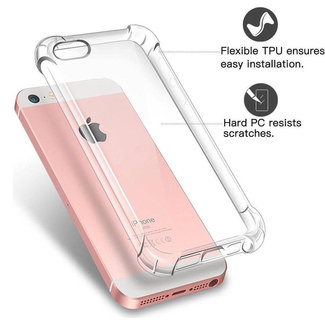 MSS Apple iPhone 5/ 5s/ SE Transparant TPU Anti shock back cover hoesje