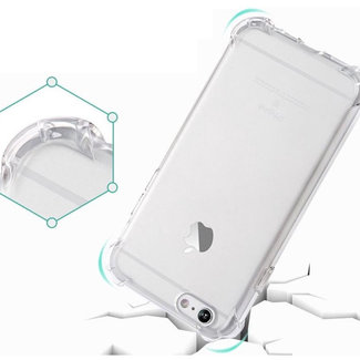 MSS Apple iPhone 6/6s Transparant TPU Anti shock back cover hoesje