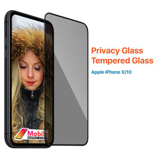 MSS Apple iPhone X / 10 Transparent Privacy Glass Tempered Glass
