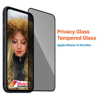 MSS Apple iPhone 12 Pro Max  Transparant Privacy Glas Tempered Glass