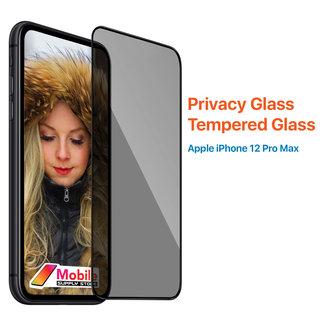 MSS Apple iPhone 12 Pro Max Transparentes Sichtschutzglas Gehärtetes Glas