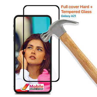 MSS Samsung Galaxy A21 Tempered Glass Full Cover Hard +