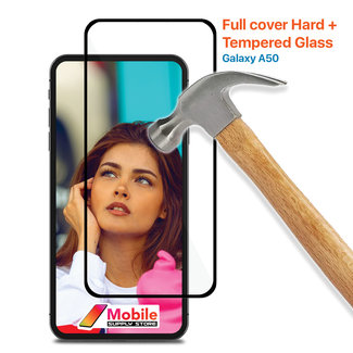 MSS Samsung Galaxy A50 gehärtetes Glas Full Cover Hard +