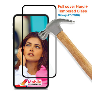 MSS Samsung Galaxy A7 (2018) Tempered Glass Full Cover Hard +