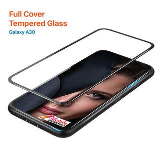 MSS Samsung Galaxy A20 / A30 Gehärtetes Glas Full Cover Plus