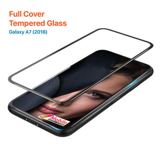 MSS Samsung Galaxy A7 (2018) Tempered Glass Full Cover Plus