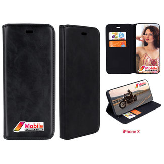 MSS Apple iPhone X Magnet Closure Book Cover