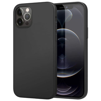 MSS iPhone 12 Pro Schwarz TPU Matt Schwarz Rückseite