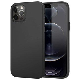 MSS iPhone 12 Pro Zwart TPU Mat zwart Back cover