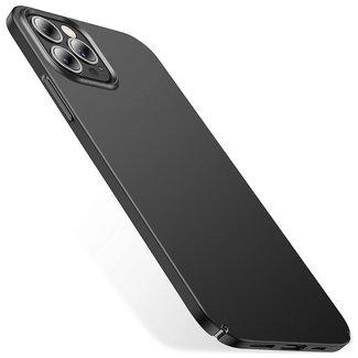 MSS iPhone 12 Pro Max Zwart TPU Mat zwart Back cover