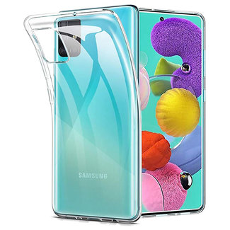 MSS Samsung Galaxy A51 Transparent TPU Silicone Back cover